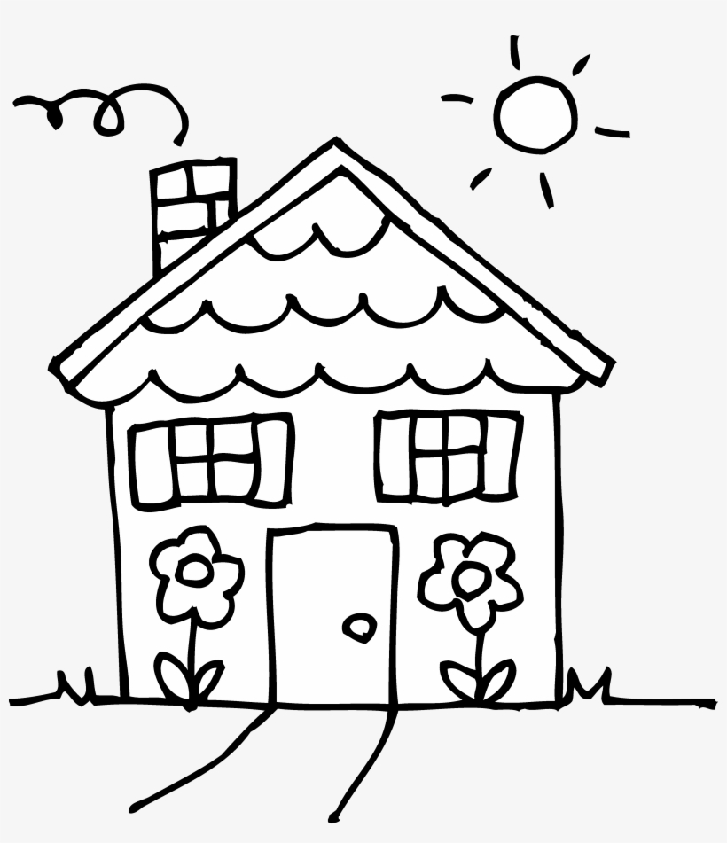 black and white house clipart house clipart black and white free rh pngkey com black and white house clipart images house clipart black and white png