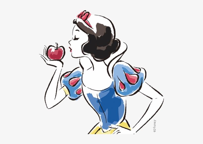 Snow White Watercolor - Iphone 8 Plus Case Snow White, transparent png #13218