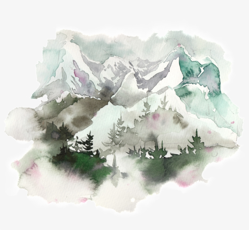 This Graphics Is Creative Majestic Ink Painting Transparent - Watercolor Painting, transparent png #13238