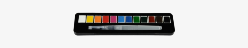 Watercolor Paint Set,solid Watercolour Paint Set - Acuarela Start Caja Metal 12 1/2 Godet + Pincel Rellenable, transparent png #13259