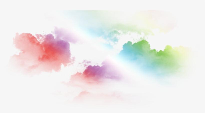 Color Cloud Png - Colored Cloud Png, transparent png #13284