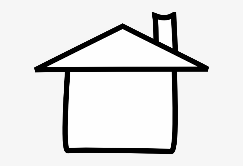 White House Clipart House Number - House Outline Clipart Free, transparent png #13395