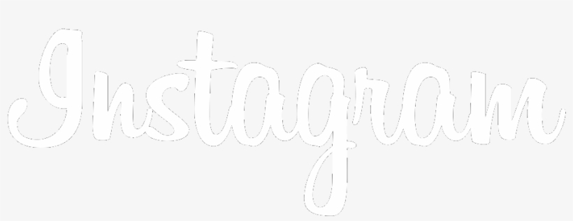 Instagram Font Logo White Png - Instagram White Text, transparent png #13459