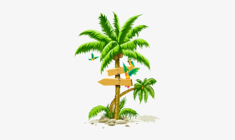 Tropical Palm Tree Png, transparent png #13483