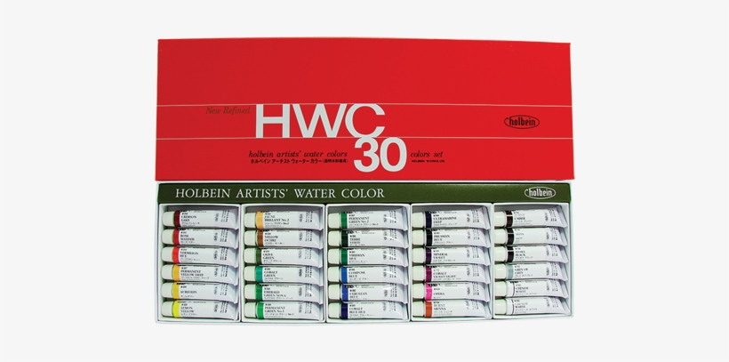 W407 - Holbein Watercolor 24 Set, transparent png #14193