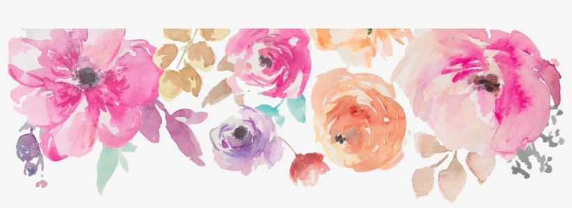 Clip Art Free Stock Flowers Png Image Peoplepng Com - Watercolor Flower Border Png, transparent png #14216