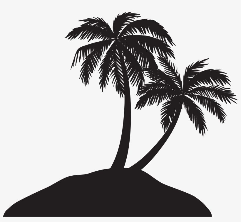 Jpg Royalty Free Library Island With Silhouette Clip, transparent png #14646
