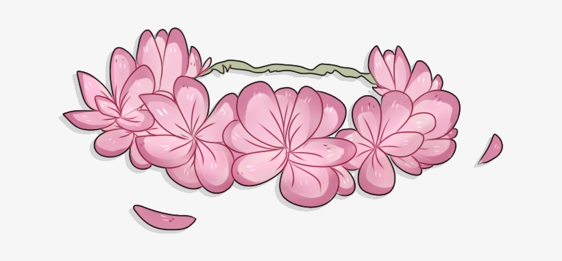 Flower Crown Png Transparent Png Library Download - Flower Crown Drawing Transparent, transparent png #15265