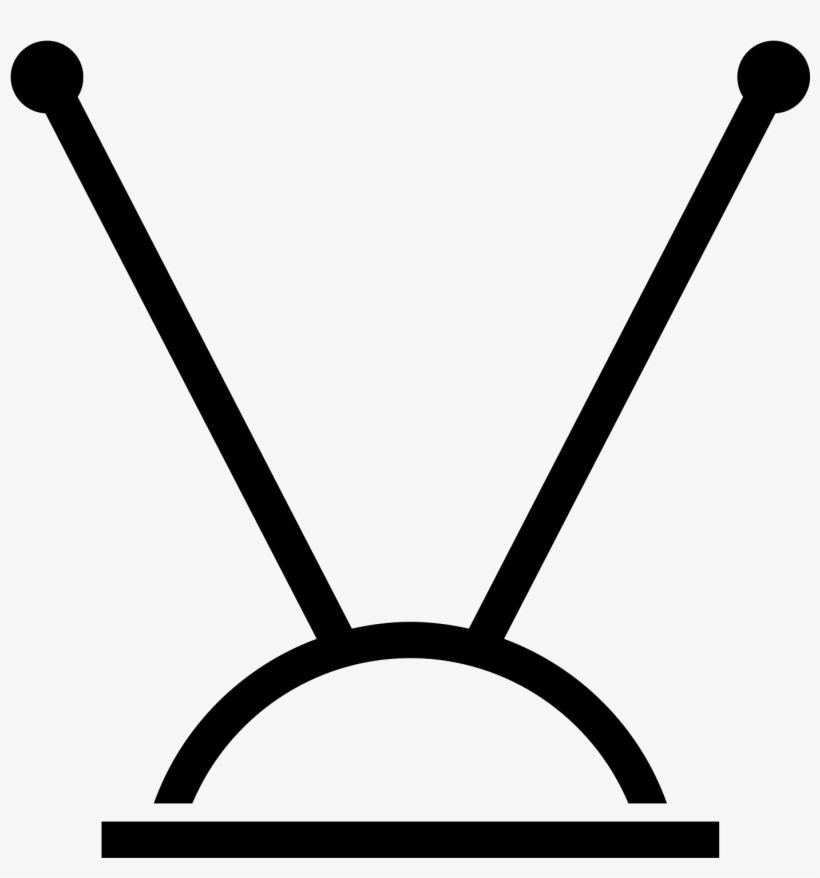 Television Clipart Tv Antenna - Antenna Tv Icon Png, transparent png #15300