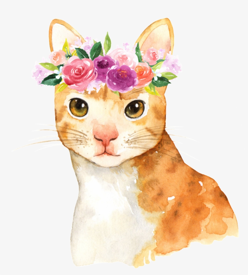 This Graphics Is Hand Painted Cute Cartoon Cat Png - Cute November 2018 Calendar, transparent png #15473