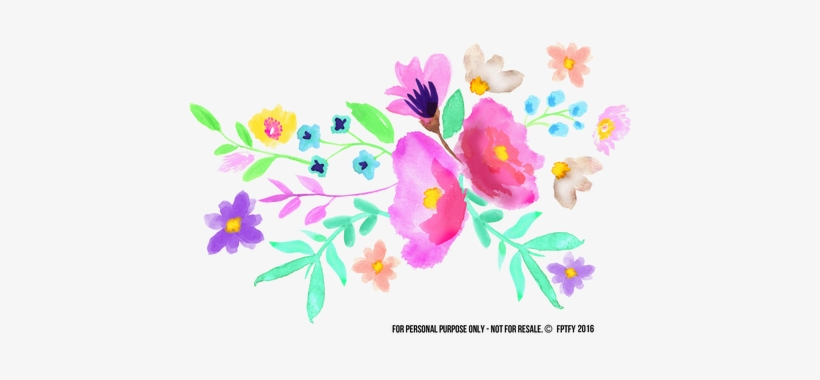 Clipart Freeuse Stock Transpa Watercolors Spring Watercolor - Spring Watercolor Flowers Png, transparent png #16292