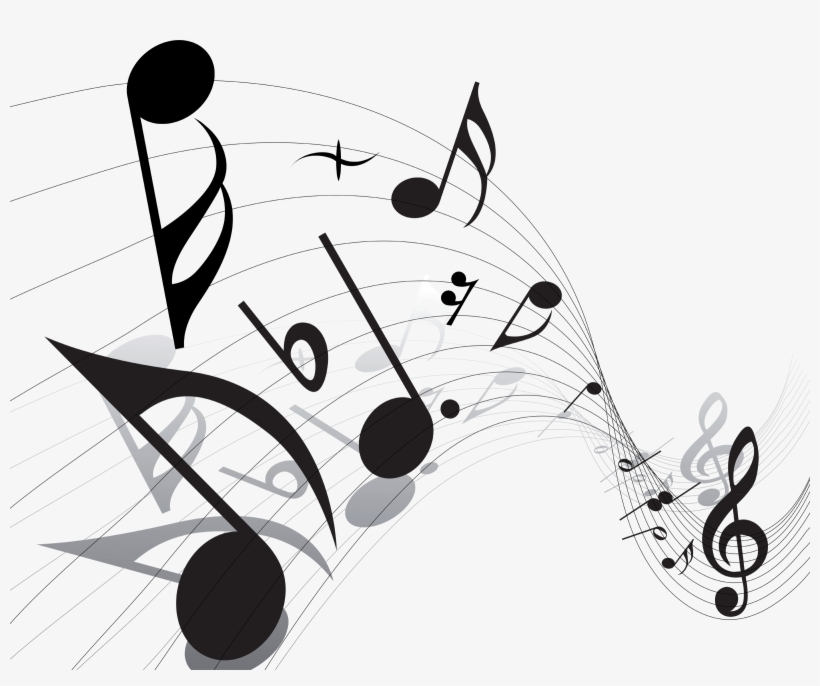 Music Notes Png Vector, transparent png #16809