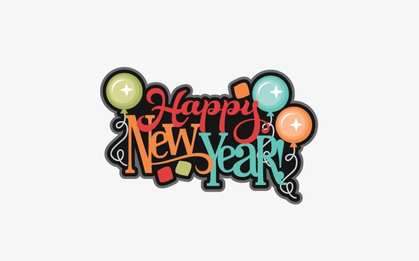 Holidays - Happy New Year Scrapbook Clipart, transparent png #17366