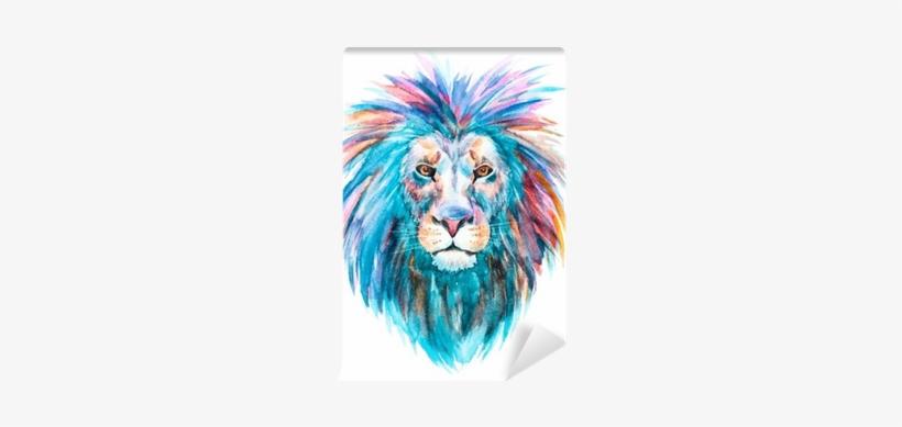 Watercolor Vector Lion Self-adhesive Wall Mural • Pixers® - Watercolor Lion, transparent png #17413