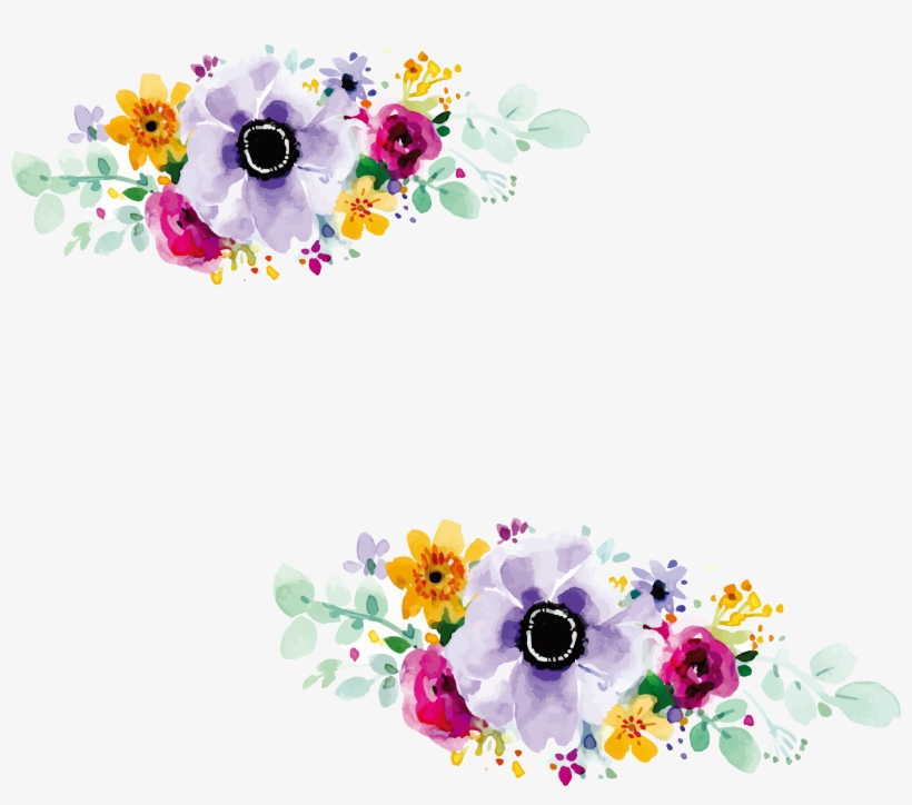 Picture Library Library Design Wedding Invitation Watercolour - Flower Design For Wedding Invitation, transparent png #17864