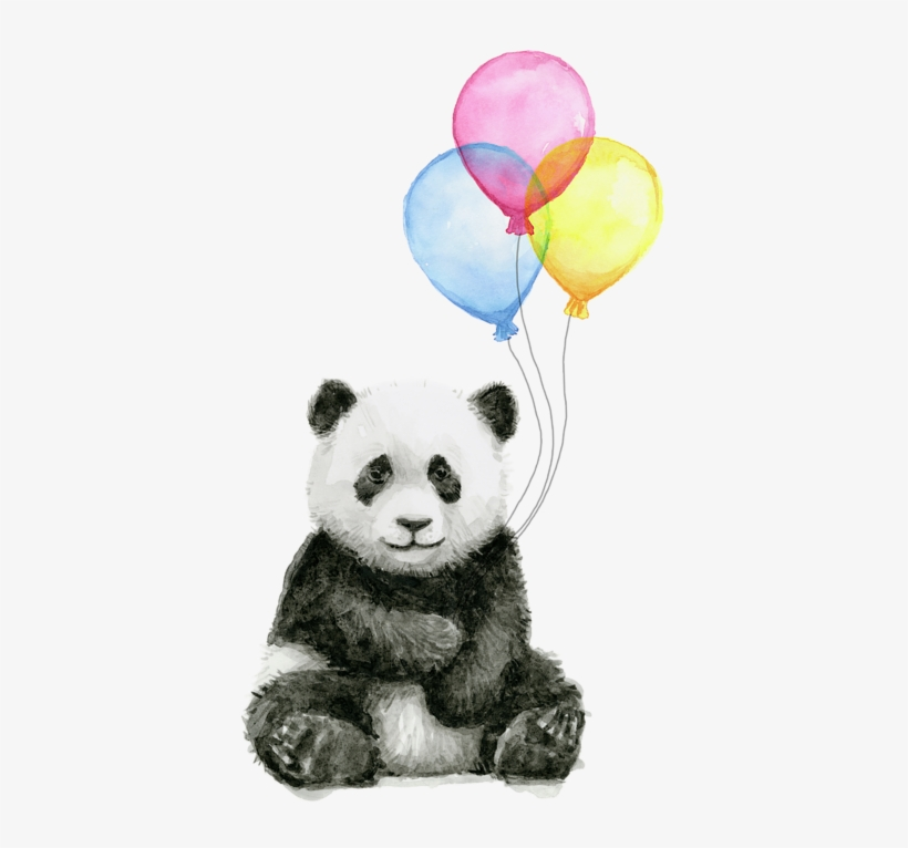 Click And Drag To Re-position The Image, If Desired - Panda Watercolor, transparent png #17867