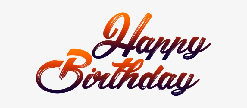 Happy Birthday Png Text Jpg Transparent Library - Happy Birthday Png For Picsart, transparent png #18136