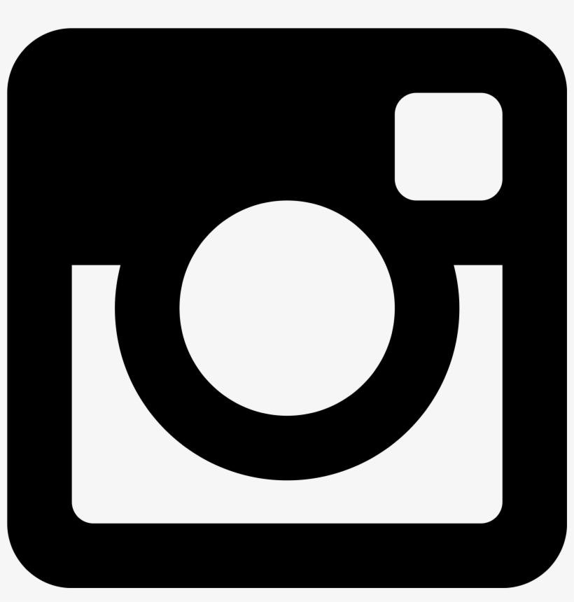 Instagram Logo - Black Instagram Logo, transparent png #18291