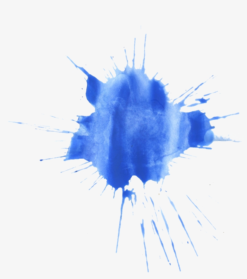 Free Download - Blue Watercolor Splash Png, transparent png #18330