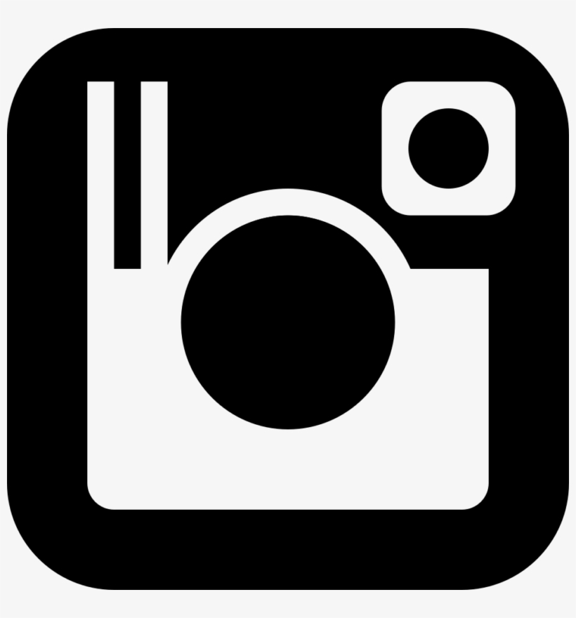 See Here New 2018 Instagram Logo Vector - Black And White