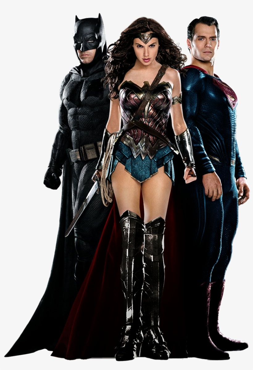 Batman V Superman Trinity - Batman V Superman Wonder Woman Shirt, transparent png #18649