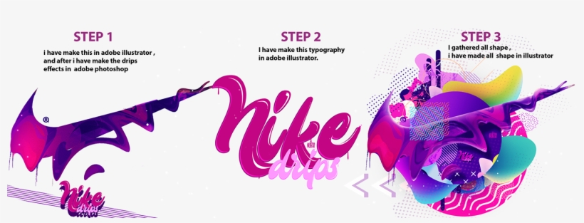 Nike Drips On Behance Jpg Library - Library, transparent png #18915