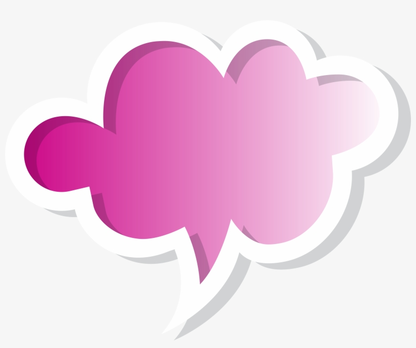 Pink Speech Bubble Png - Cool Speech Bubble Png, transparent png #18962