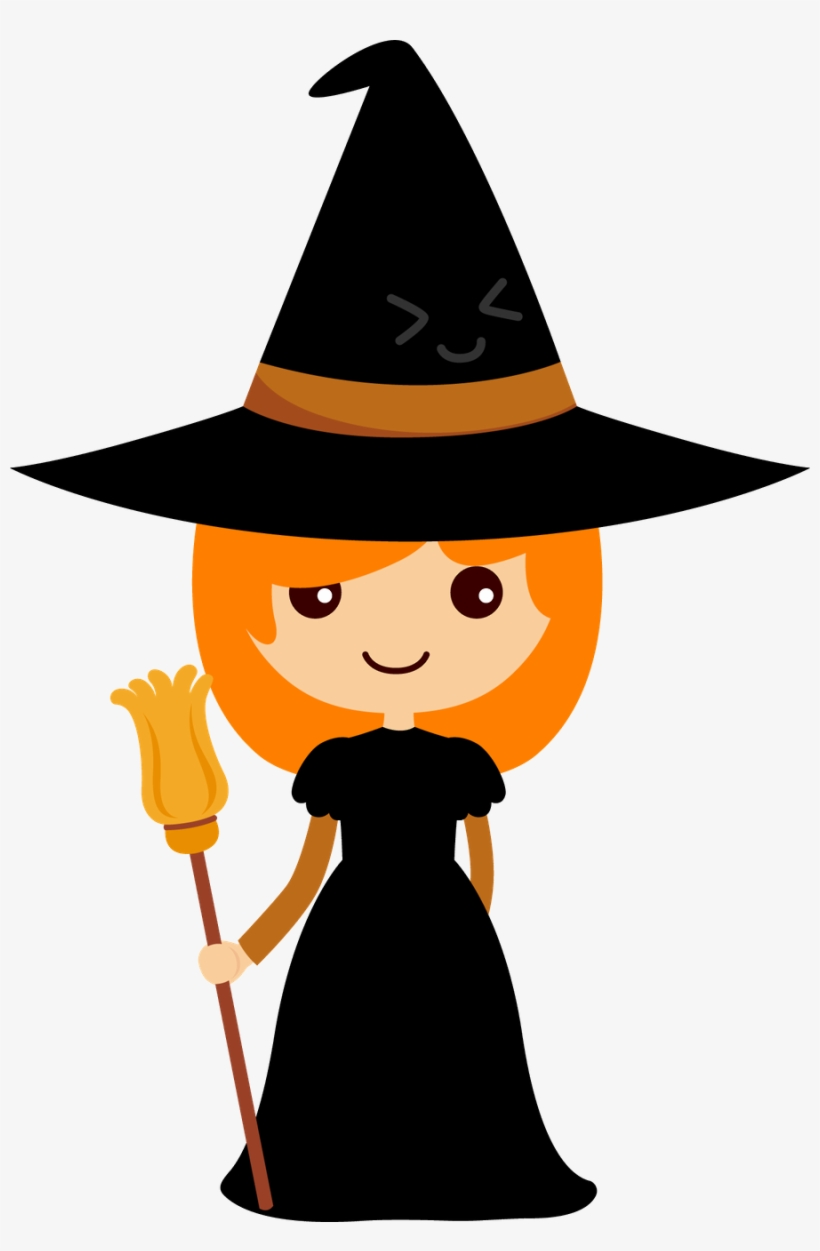 Cu Watercolor Halloween Clipart - Witch Clipart Halloween, transparent png #100167