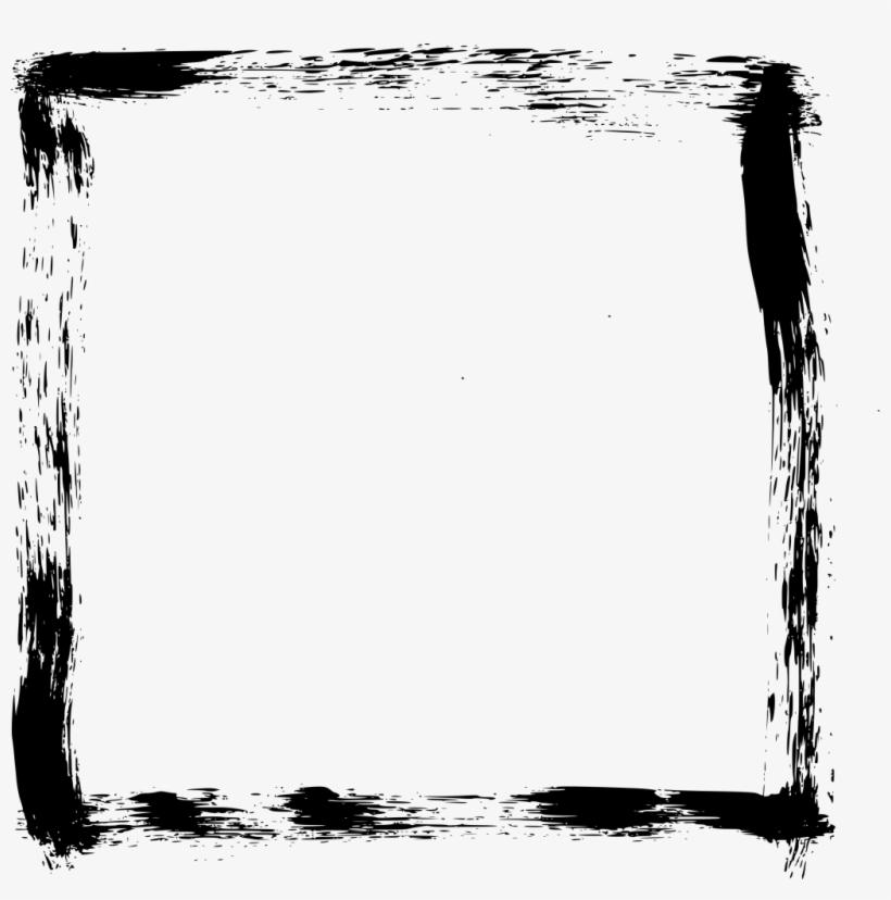 Png File Size - Brush Stroke Frames Png, transparent png #100233