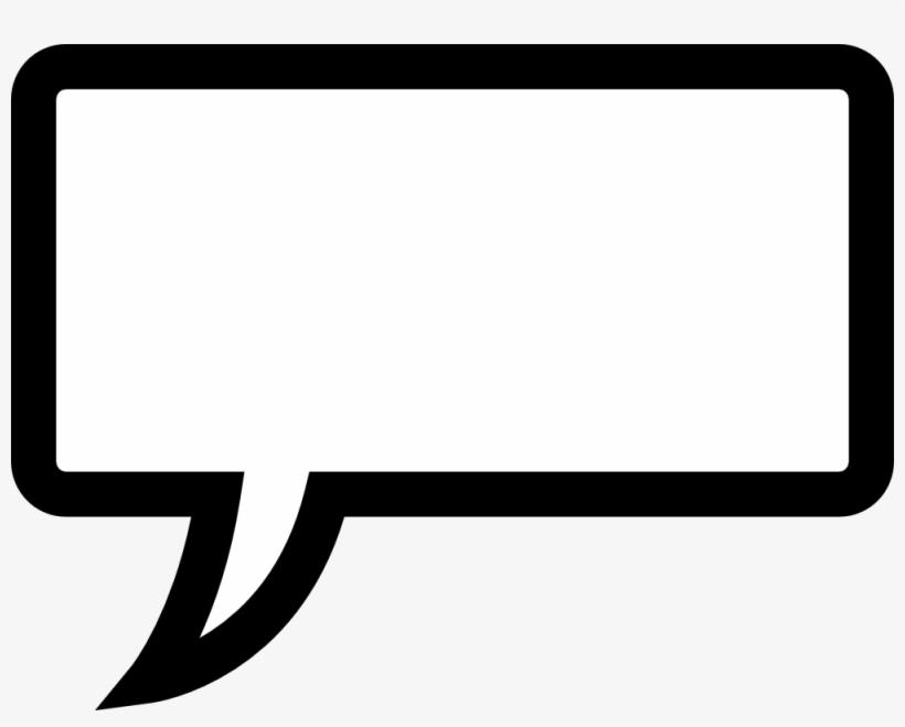 Speech Bubble Template - Speech Bubble Rectangle Png, transparent png #100553