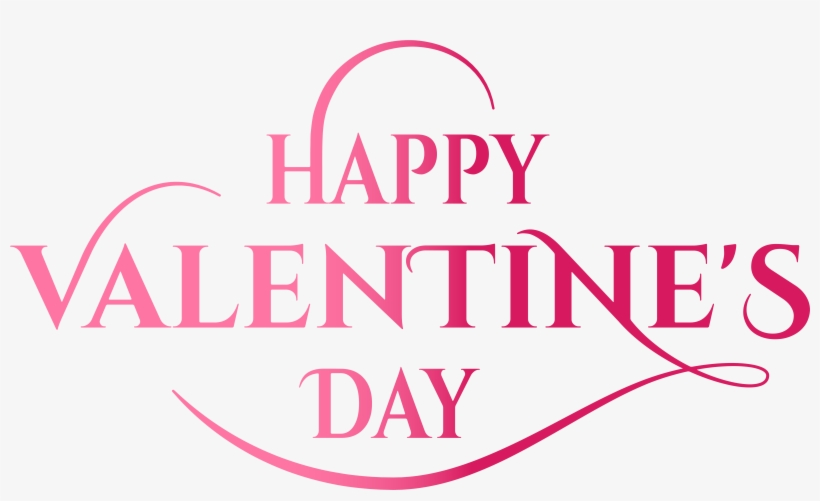 Valentine S Day Pink Text Png Image Is Available For Happy Valentines Day Transparent Background Free Transparent Png Download Pngkey