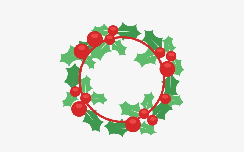 Christmas Svg Scrapbook Cut File Files For - Christmas Wreath Clipart, transparent png #101411