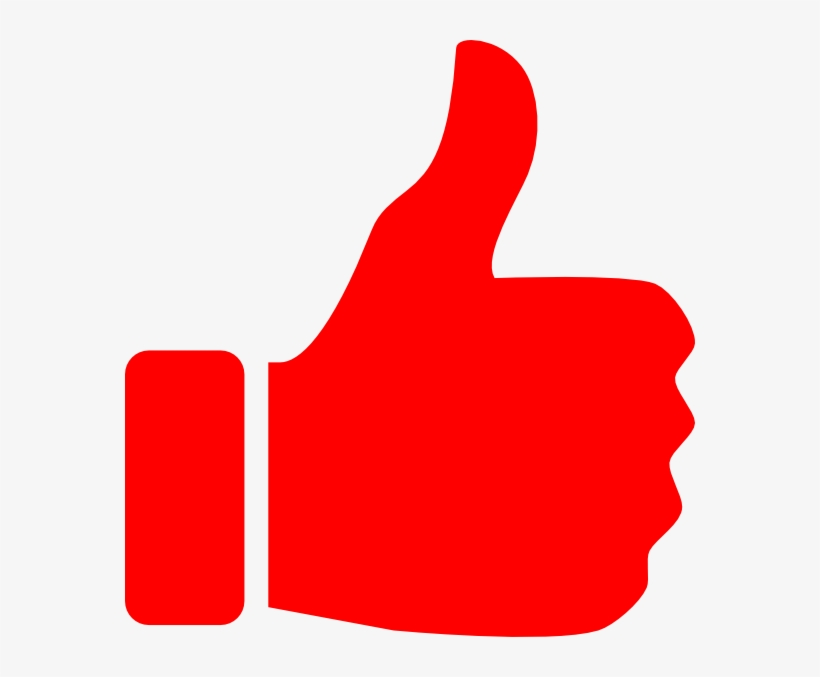 Clipart Library Red Clip Art At Clker Com Vector - Thumbs Up Icon Red, transparent png #101944