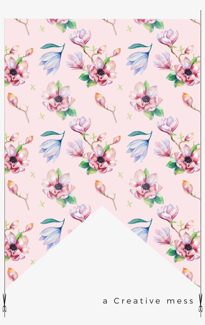 Watercolor - Kris Art 'magnolia Flower' Canvas Gallery Wrap, Size, transparent png #102649