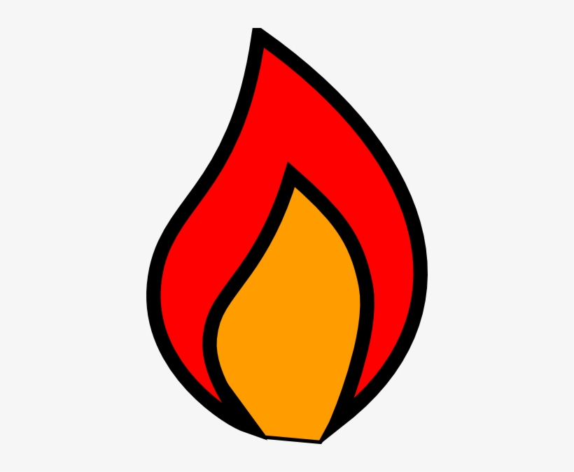 Flame candle. Art download clipart png
