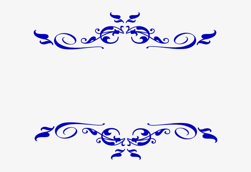 Decorative Line Gold Clipart Swirl Royal Blue Design For