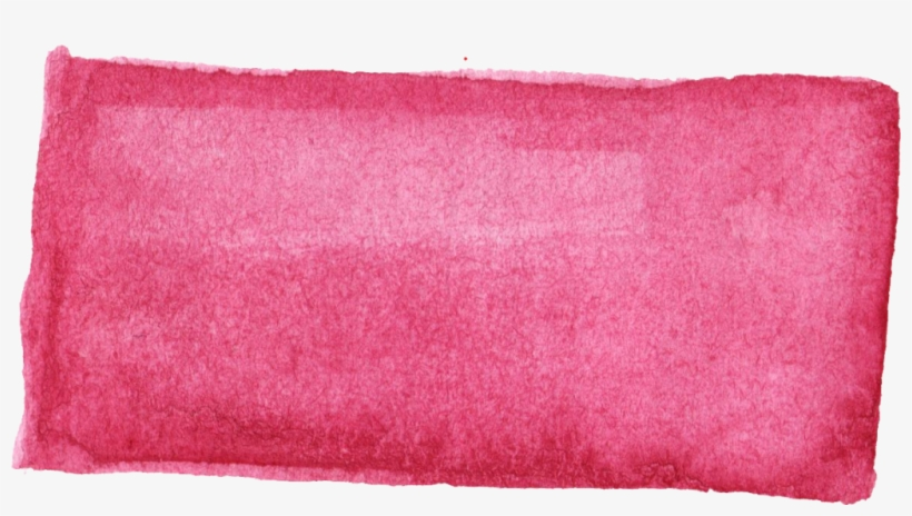 Pink Rectangle Png - Pink Rectangle Watercolor Png, transparent png #104097