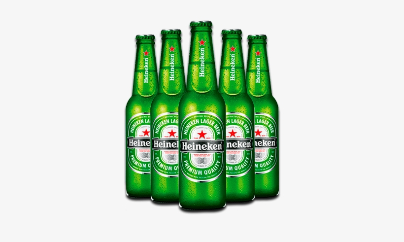 Heineken Beer Bottles (6 Pack) (330ml), transparent png #104218