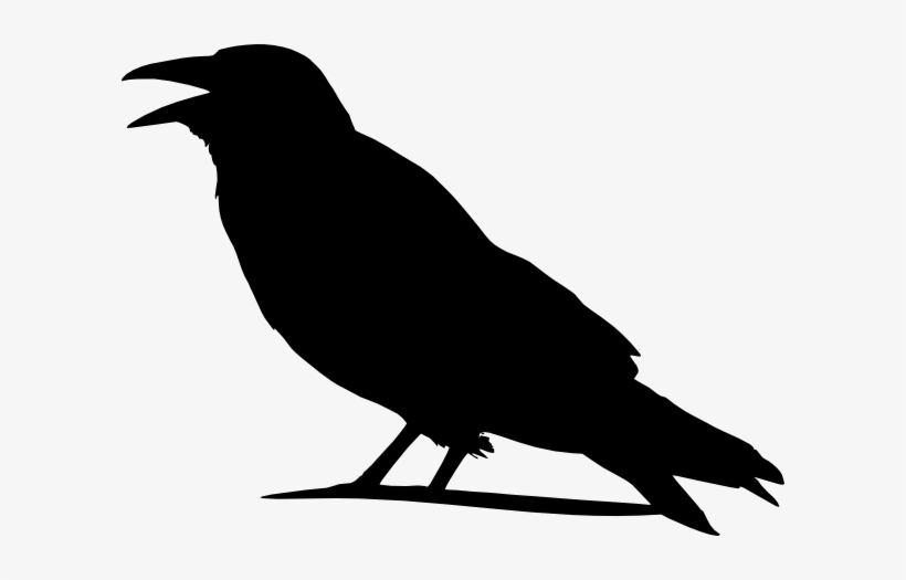 Folk Clipart Crow - Outline Images Of Crow, transparent png #104478