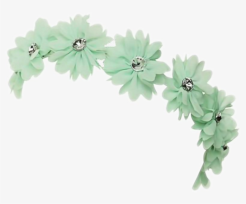 Mint Transpa Flower Crown Frames Ilrations Hd Images - Green Flower Crown Transparent, transparent png #104694