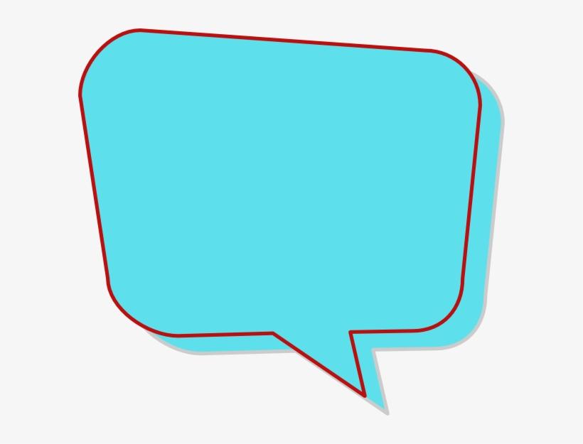 Aqua Speech Bubble Clip Art - Colored Speech Bubble Png, transparent png #104883