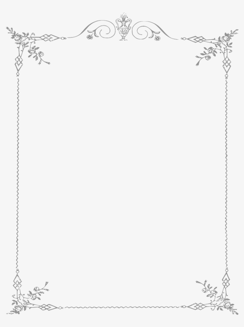 White Border Frame Png Clipart - Page Border Black And White, transparent png #104987