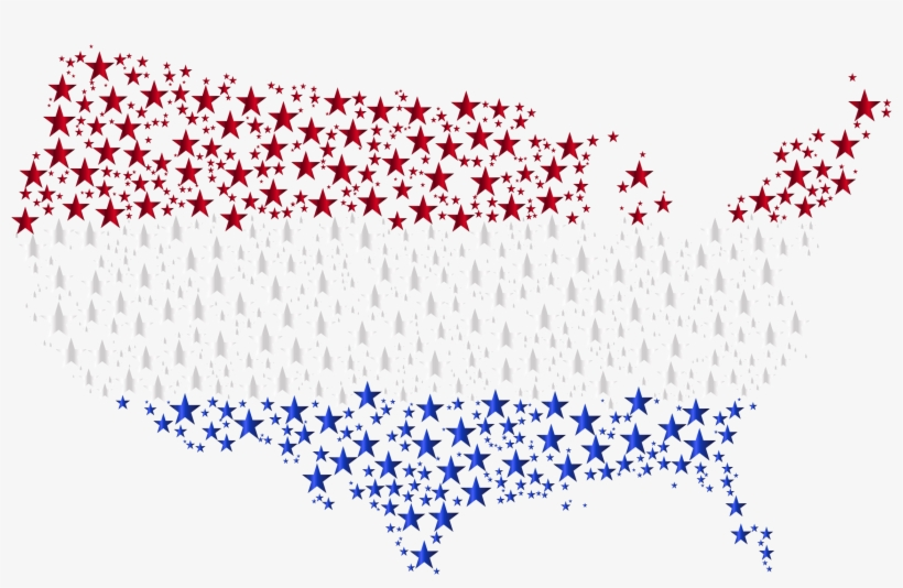 Map Of The Usa Flag Clipart Png - Transparent Background Icon Png ...