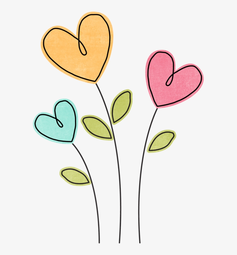 Cake Clipart, Heart Clip Art, Flower Clipart, Easy - Flowers And ...