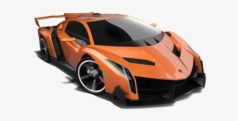 Lamborghini Veneno Orange - Hotwheels Lambo Png, transparent png #105763