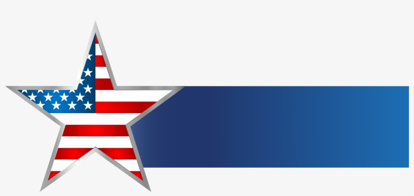 Usa Star Banner Png Clip Art Image - American Flag Banner Png, transparent png #105780