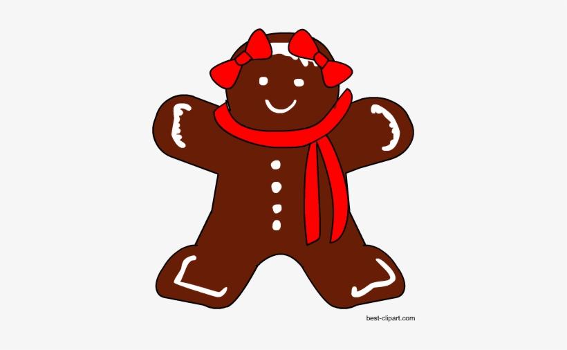 Cute Gingerbread Girl, Free Christmas Clip Art - Gingerbread Man, transparent png #106418