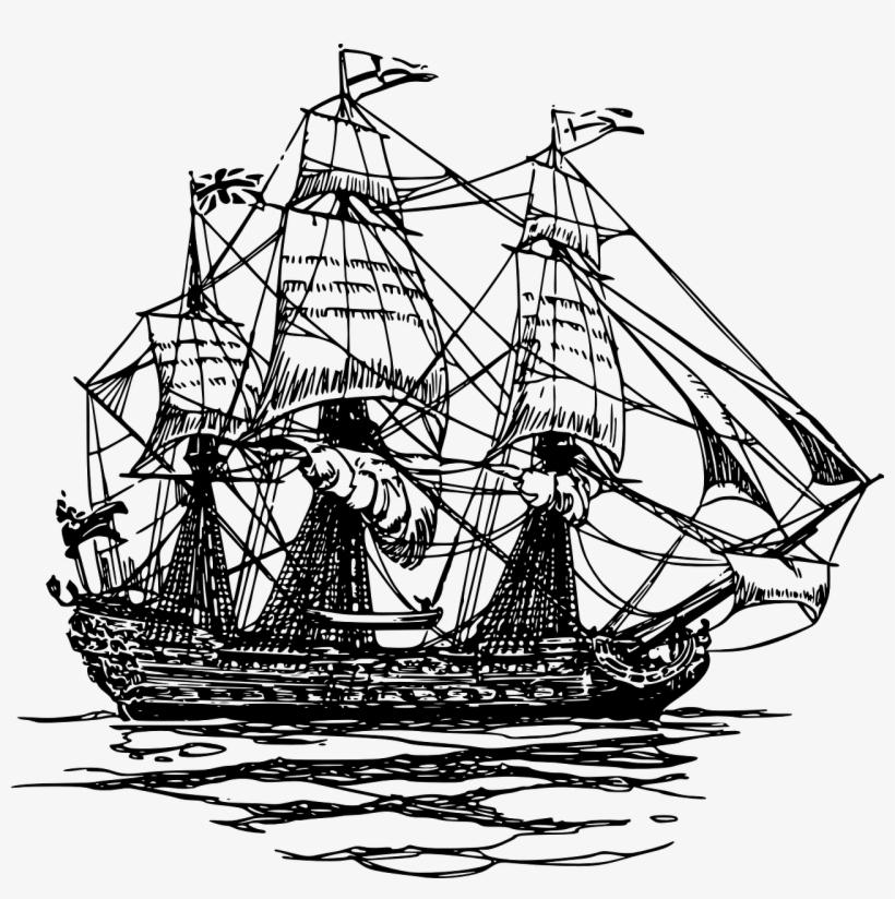 Sailing Ship Drawing Boat - British Ships 18th Century, transparent png #107555