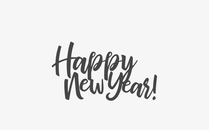Happy New Year Title Scrapbook Cut File Cute Clipart - Cricut, transparent png #107907