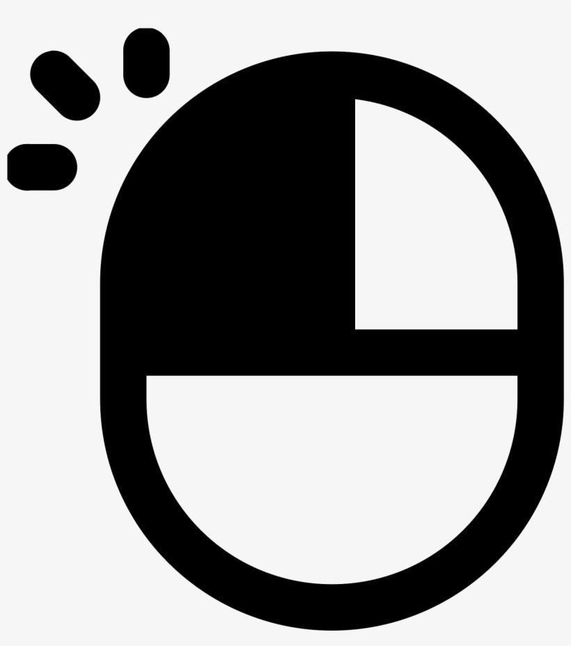 Mouse Cursor Click Clipart Computer - Left Click Mouse Icon, transparent png #107995